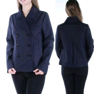 NWT Charter Club Navy Double Breasted pea coat